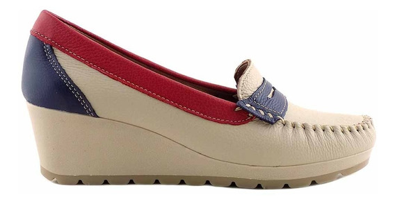 Mocasin Zapato Mujer Cuero Briganti Confort Promo Mcmo03629