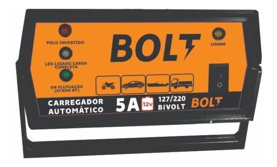 Carregador De Bateria Automotiva Moto 5a 12v Bolt