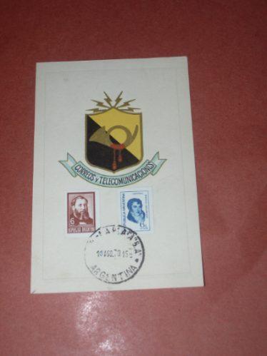 Tarjeta Postal De 1970..