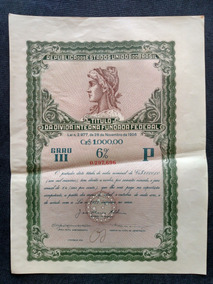 Apólice Título Da Dívida Interna Fundada Federal De 1956