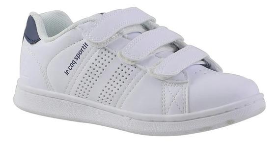 Zapatillas Escolares Le Coq Sportif Sculi Strap White-navy