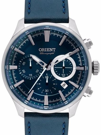 Relogio Orient Masculino Cronografo Couro - Mbscc051 D1dx