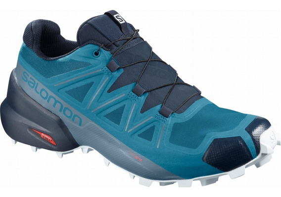 Zapatilla Salomon Hombre Trail Running Speedcross 5 Azul Ras