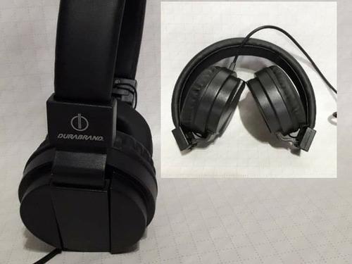 Audífonos Alámbricos.plegables En Color Negro.nuevos.
