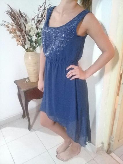 Vestido De Fiesta Azul Importado