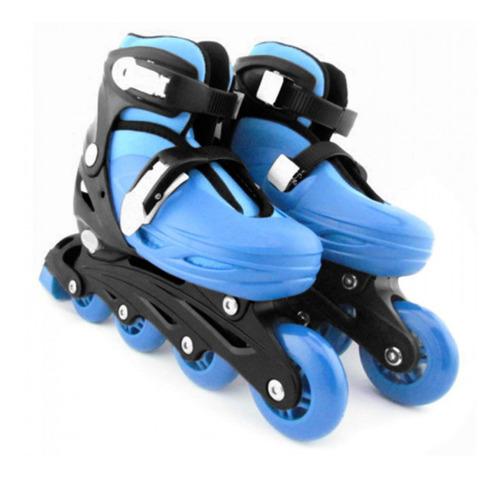 Patins Roller Radical Inline Cor Azul Tamanho M 32 Ao 35