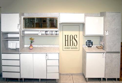 Imagem 1 de 5 de Cozinha Confort 7 Peças Branca/concreto