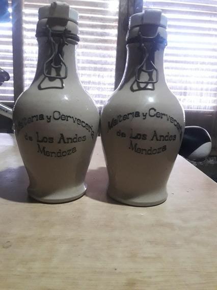 2 Hermosos Porrones De Ceramica De Gress Ingles Antiguos