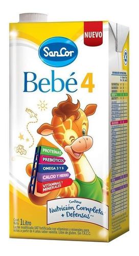 Leche de fórmula líquida Mead Johnson SanCor Bebé 4 sabor vainilla por 24 unidades de 1L