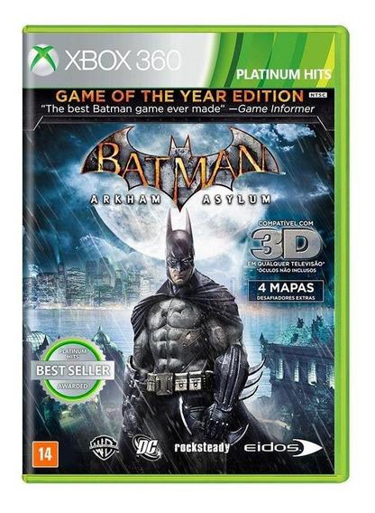 Batman Arkham Asylum Goty Xbox 360 Mídia Física Novo Lacrado