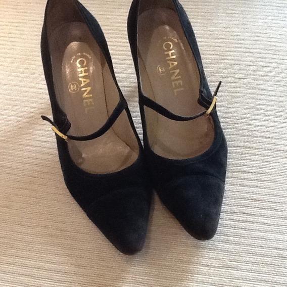 Sapato Chanel France Camurça Original Tamanho 38