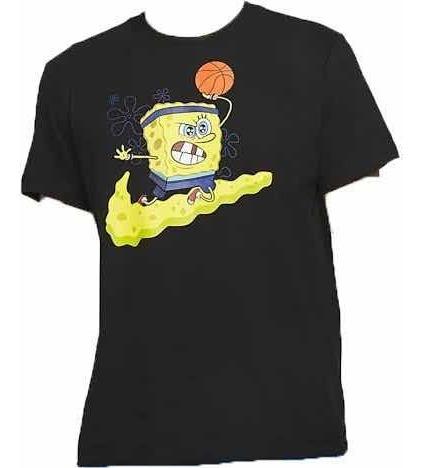 Playera Tshirt Kyrie Nike X Bob Esponja Negra Spongebob Orig