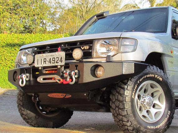 Para Choque De Aço Mitsubishi Pajero Gls-b 1995 A 2000