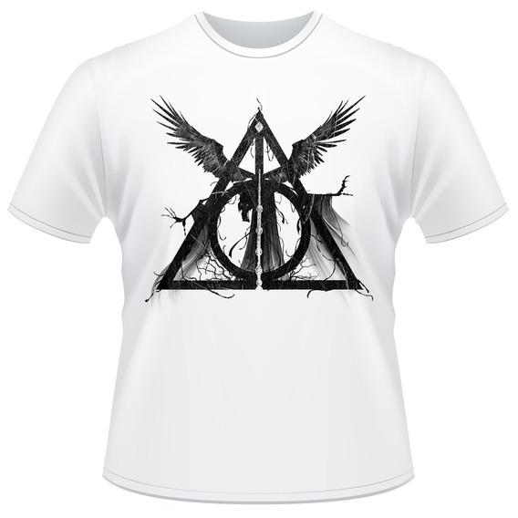 Camiseta Harry Potter Relíquias Da Morte Hp Deathly Camisa