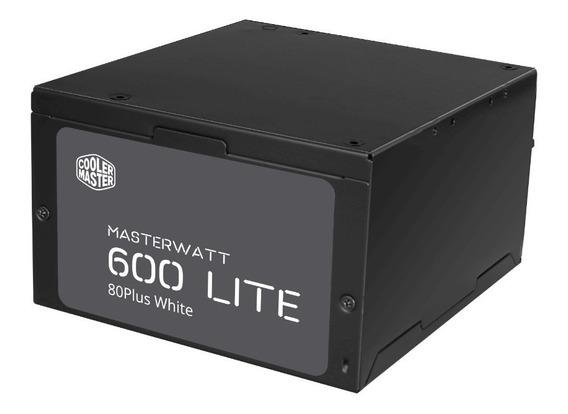 Fonte Cooler Master Masterwatt Lite 600w 80 Plus White