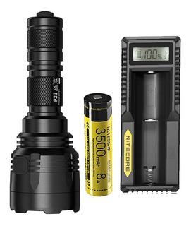 Lanterna Nitecore P30 Xp-l Hi V3 1000 Lumens 618 Mts + Bater