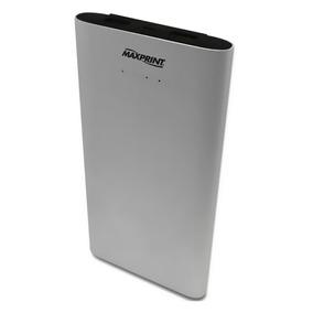Carregador Portátil Power Bank Dual Alumium Maxprint