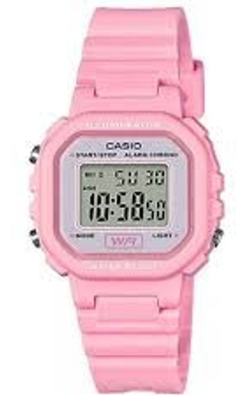 Relógio Feminino Casio La-20wh-4a1df Digital Rosa