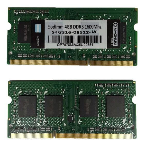Memoria Ram Para Notebook 4gb Ddr3 1600 Mhz En Ramos
