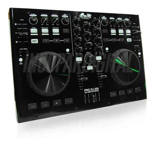 Gbr Pro Dj 200 Mki Controlador De Dj Mixer Placa Mkii Usb