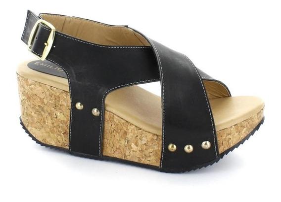 Sandalia Para Mujer Emilio Bazan Cr5060-032268 Color Negro