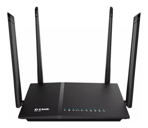Roteador D-link Dir-825 Com Wi-fi Ac 1200mbps 10/100/1000