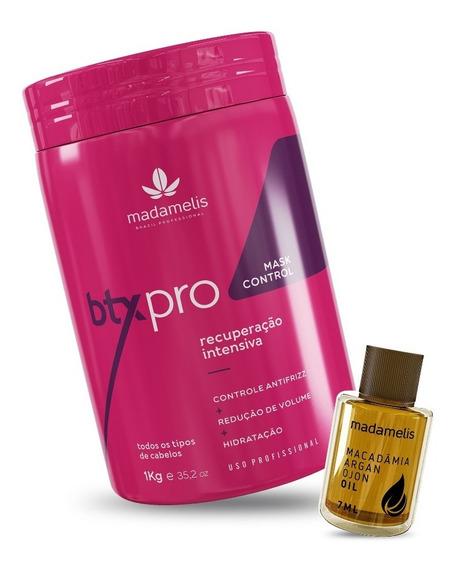 Btx Pro Mask 1kg Madamelis + Brinde Óleo Reparador