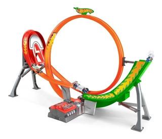 Circuito De Carreras Hot Wheels Motorizado 5 Autos Ab
