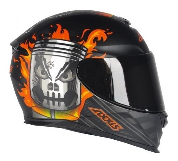 Capacete Axxis Eagle Piston Matt Black-orange