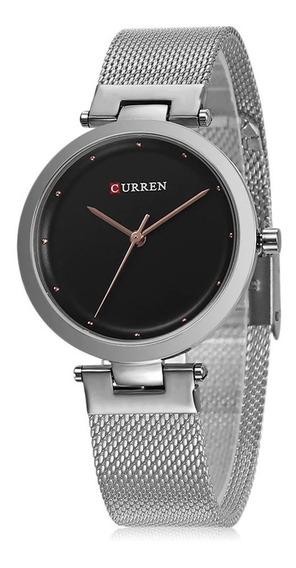 Curren 9005 Senhoras Relógio Aço Cinto Moda Casual Relógi