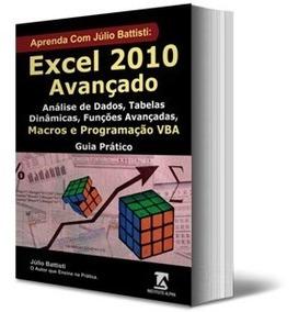 Livro Excel Avançado Análise De Dados Macros Programação Vba