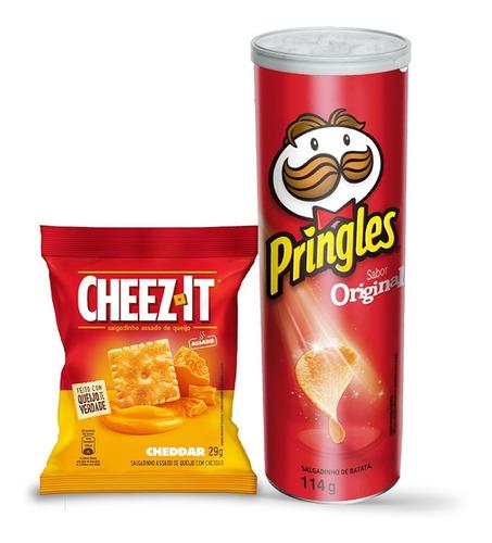 Kit Pringles Original 114g + Snack Cheez It Cheddar 29g