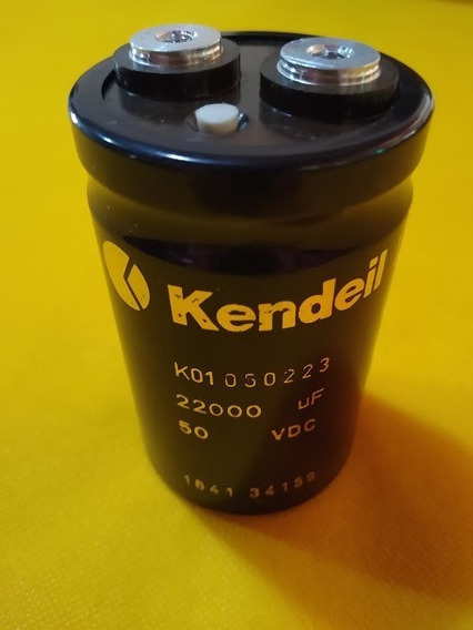 Capacitor Eletrolítico Kendeil 22.000 Micros X 50 Vdc