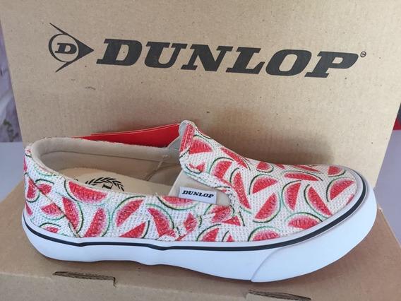 Zapatillas Panchas Lona Niños Dunlop Original - Oferta
