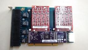 Placa Pci Wild Card Asterisk Tdm-800p Com Duas X400m
