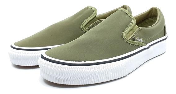 Vans Tenis Slip On Skate Shoe Nuevos Originales Unisex Verde