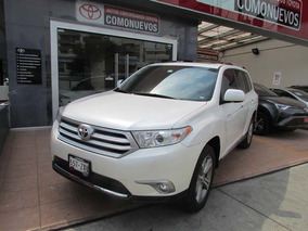 Toyota Highlander Limited Aa Qc Piel R-19 4x4 At Blanco 2013