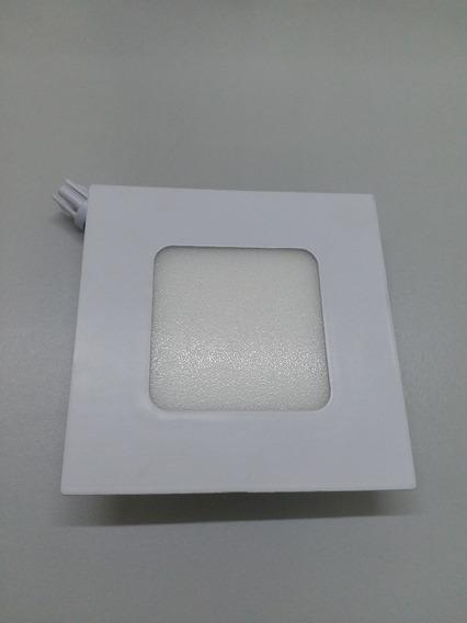Kit 10 Painel Plafon 3w Led Embutir Quadrado Quente