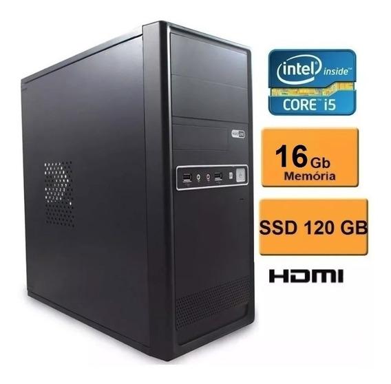 Pc Cpu Computador Intel Core I5 + Ssd120 + 16gb+win 7