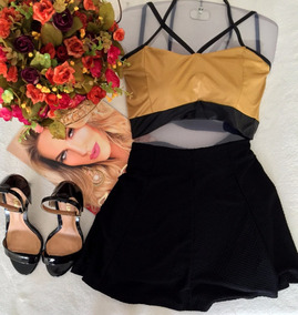 Top Cropped Strappy Tam Unico