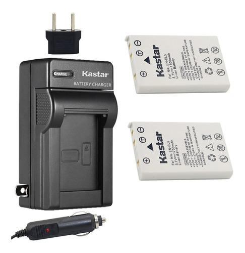 Imagen 1 de 1 de Cargador + 2 Baterías En-el5 Nikon Coolpix 3700 P500 P6000