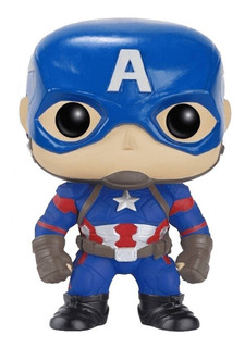 Figura Muñeco Funko Pop Marvel Civil War Capitan America 125