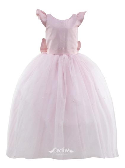 Hermoso Vestido Elegante De Ceremonia Niña Daniela
