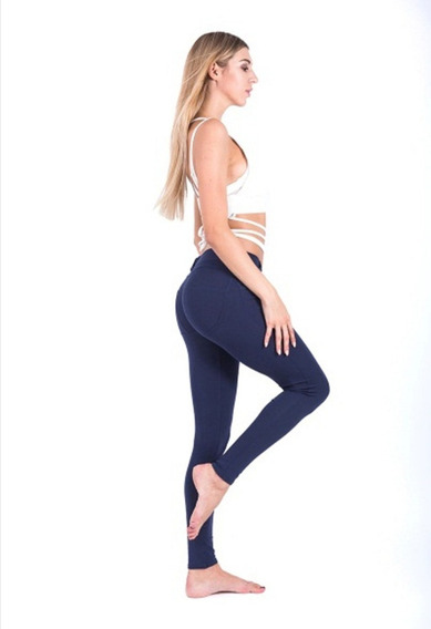 Leggins Licras Deportivo Backpocket Casual Pants Colombiano
