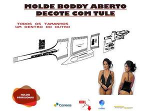 Molde Bory Aberto Decote Com Tule, Envio Fisico Ou Pdf/core
