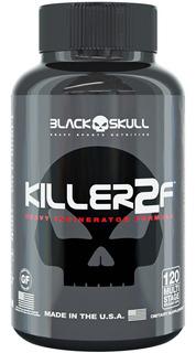 Termogenico Killer 2f - 120 Cápsulas - Black Skull