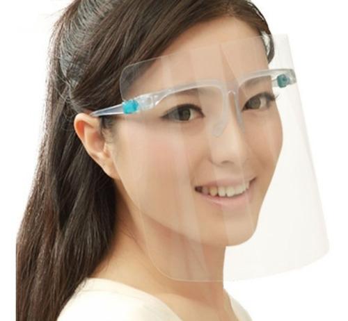 Careta Protectora Facial Lentes De Protección Cubrebocas 1pz