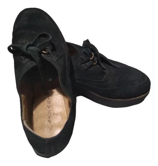 Zapatos De Gamuza Con Plataforma Nazaria Talle 39
