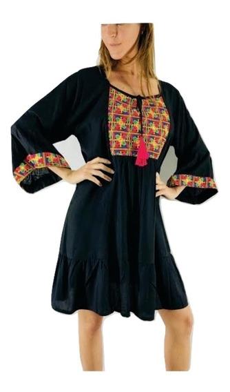 Vestido Bordado Importado Tipo Rapsodia Vars India Style