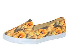 Tênis Infinity Shoes Slip On Estampado Sola Baixa